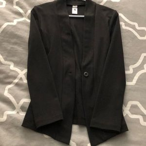 Women's black cotton blazer